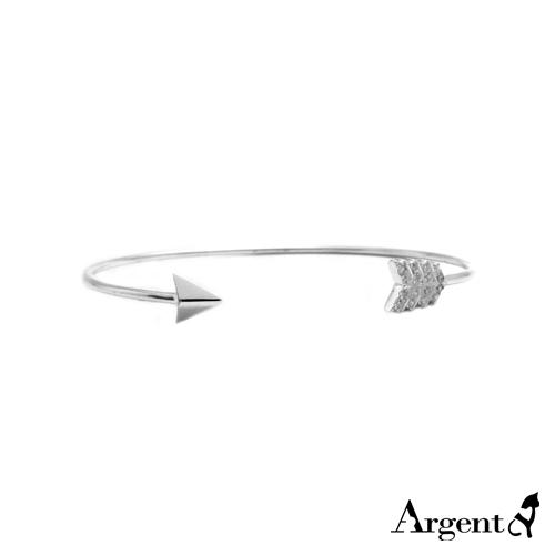 「晶鑽箭羽」造型閃亮純銀手環|925銀飾