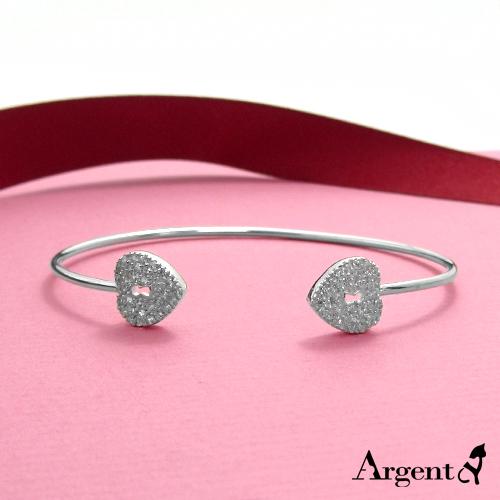 「晶鑽情鎖」單一尺寸純銀手環|925銀飾