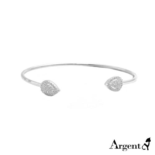 晶鑽水滴造型活圍純銀手環|925銀飾
