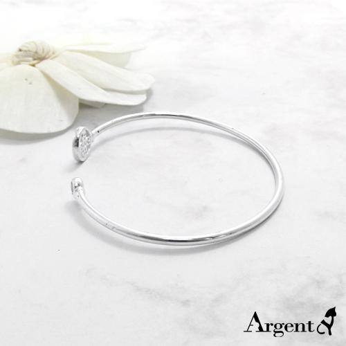 晶鑽花朵造型閃亮純銀手環|925銀飾