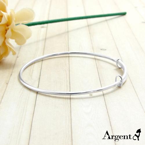 「伸展-小」極簡風格細版純銀手環|925銀飾