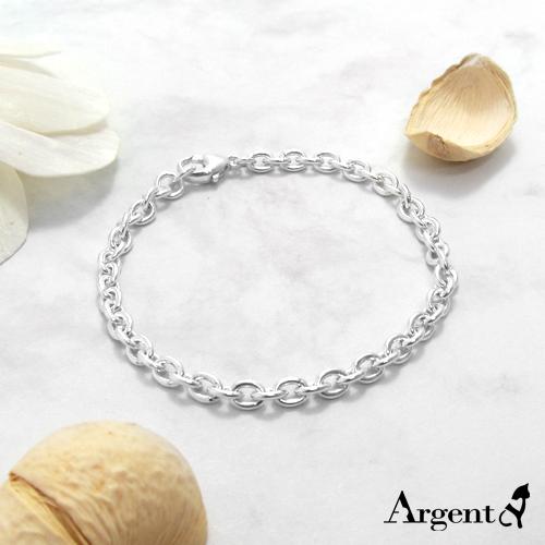 細版「橢圓鎖鍊」純銀手鍊|925銀飾