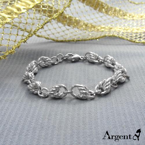 细款「麻花链」系列纯银手链|925银饰