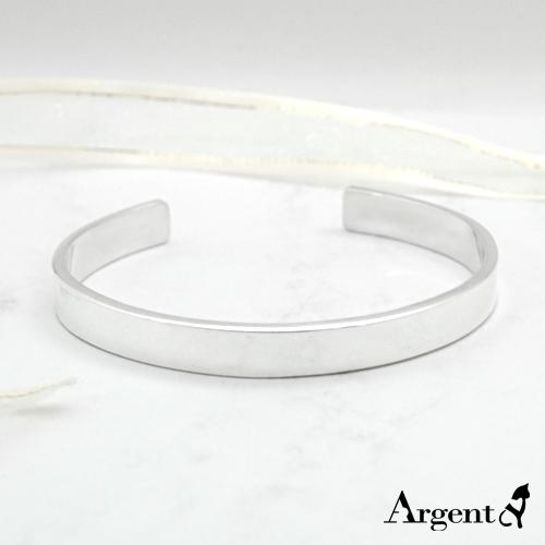 0.8cm「簡約」客製化手環|純銀刻字手鐲