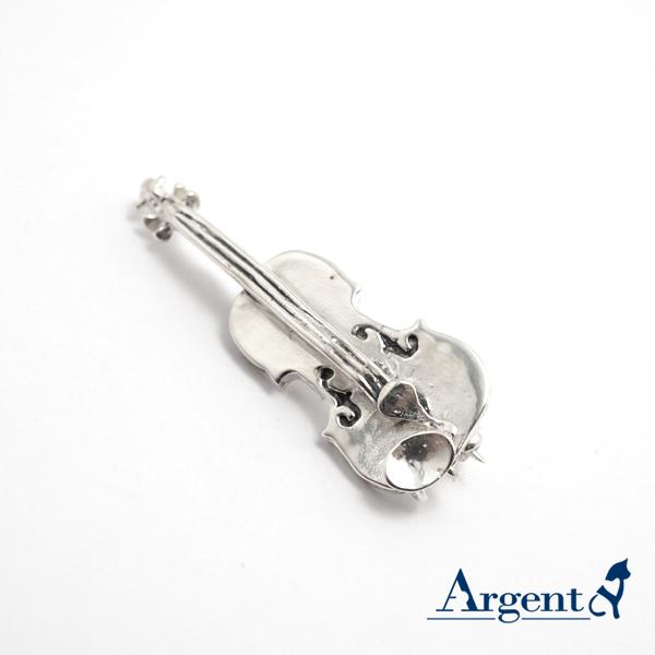 小提琴造型純銀胸針造型別針|CJHan聯名