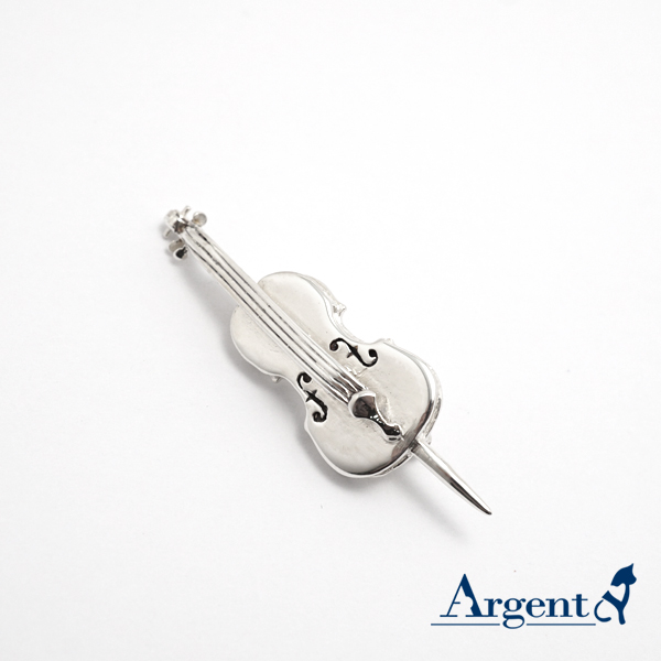 大提琴造型纯银胸针造型别针| CJHan联名