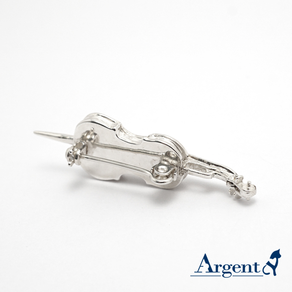 大提琴造型純銀胸針造型別針|CJHan聯名