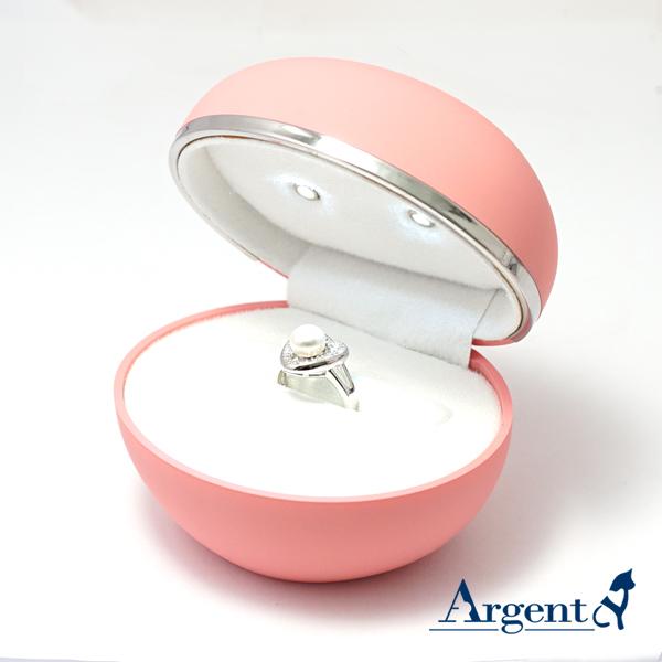 蛋型單戒/對戒求婚戒指盒 LED戒盒