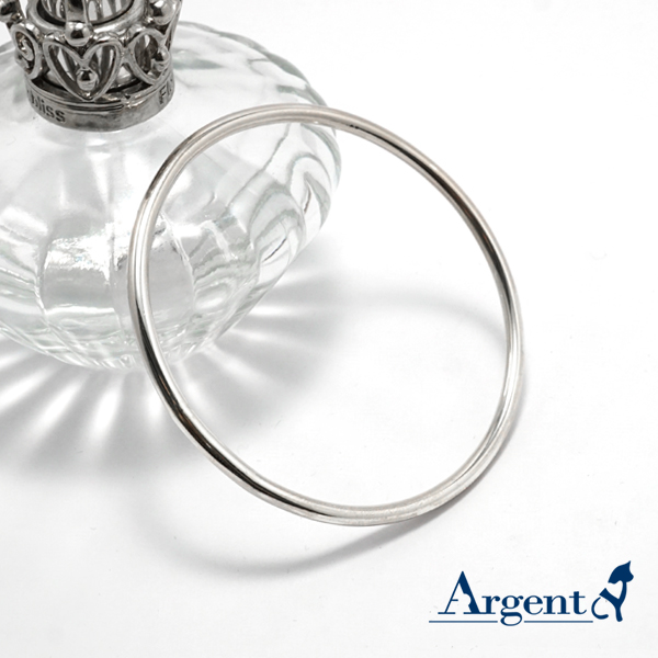3mm「圓弧形」無開口手工製作純銀手環|999銀飾
