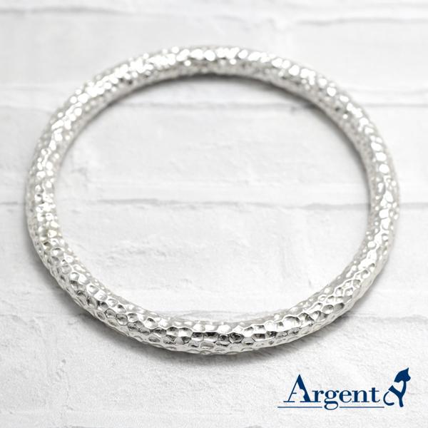 5mm「甜蜜烙印」無開口手工製作純銀手環