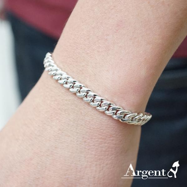 細款「扁鍊」經典系列純銀手鍊|925銀飾