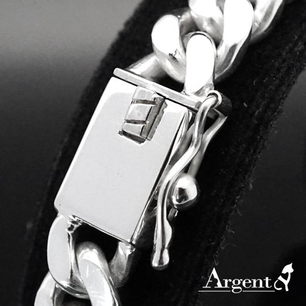 中款「扁鍊」經典系列純銀手鍊|925銀飾