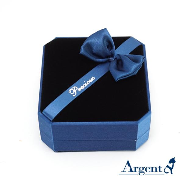 八角缎带手环盒(蓝) (C环黑底)