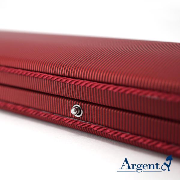布紋手鍊盒(紅(黑底)
