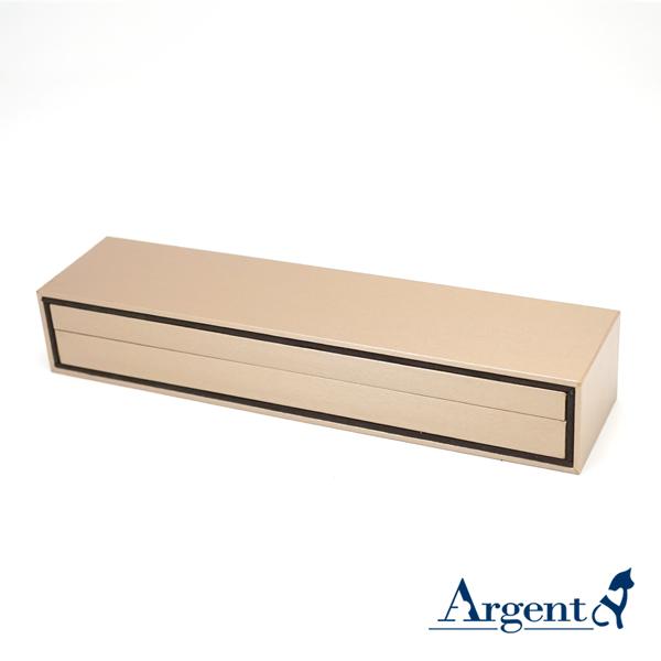 抽屜手鍊盒(棕色)(咖啡色)(黑底)