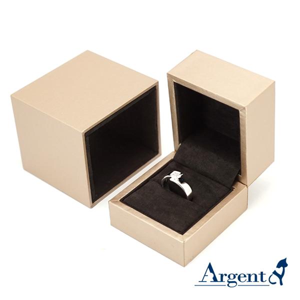 抽屜戒指盒(棕色)(咖啡色)(黑底)(適合單戒指)