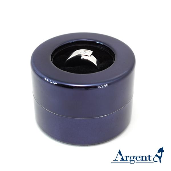 旋轉驚豔戒指盒(亮倩影藍色)