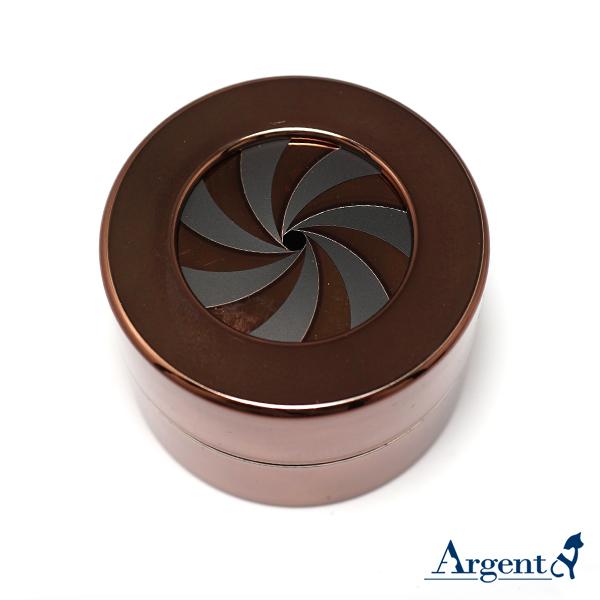 旋轉驚豔戒指盒(亮銅棕色)