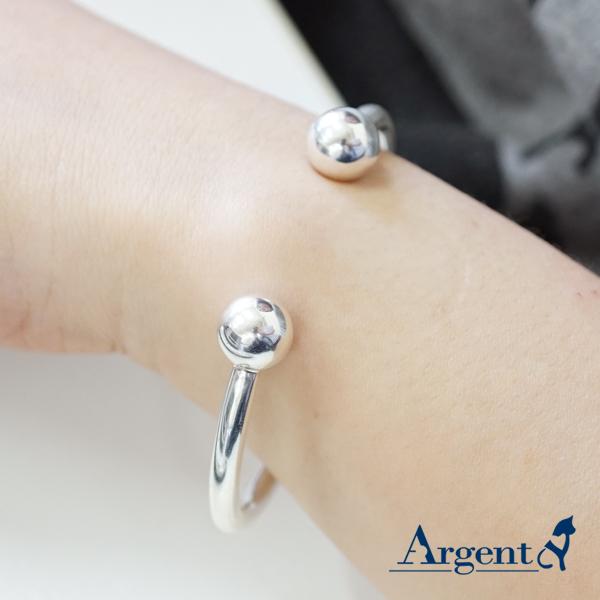 環珠銀手鐲純銀手環|925銀飾