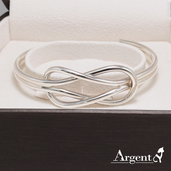 雙結銀手鐲純銀手環|925銀飾