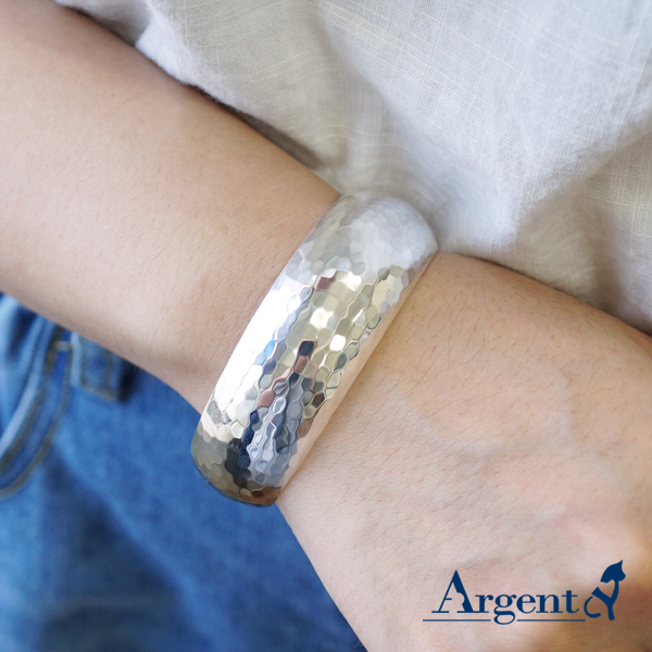 迪斯可銀手鐲純銀手環|925銀飾