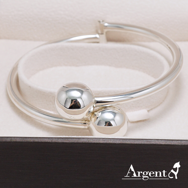 圓珠銀手鐲純銀手環|925銀飾