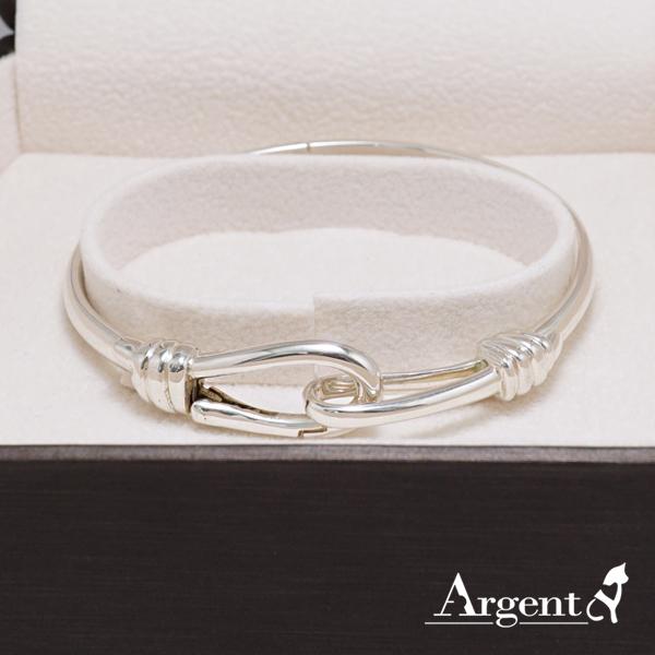 扣銀手鐲純銀手環|925銀飾