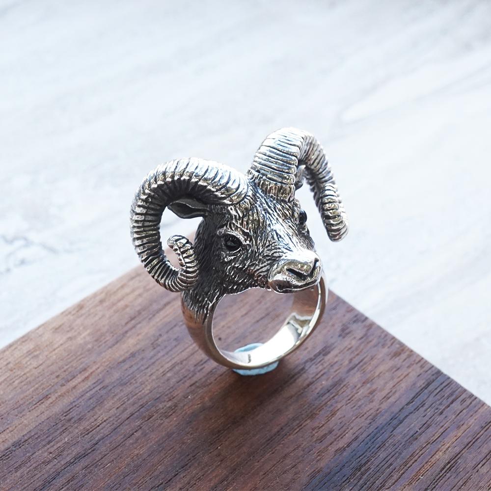 福氣羊動物造型雕刻純銀戒指|戒指推薦