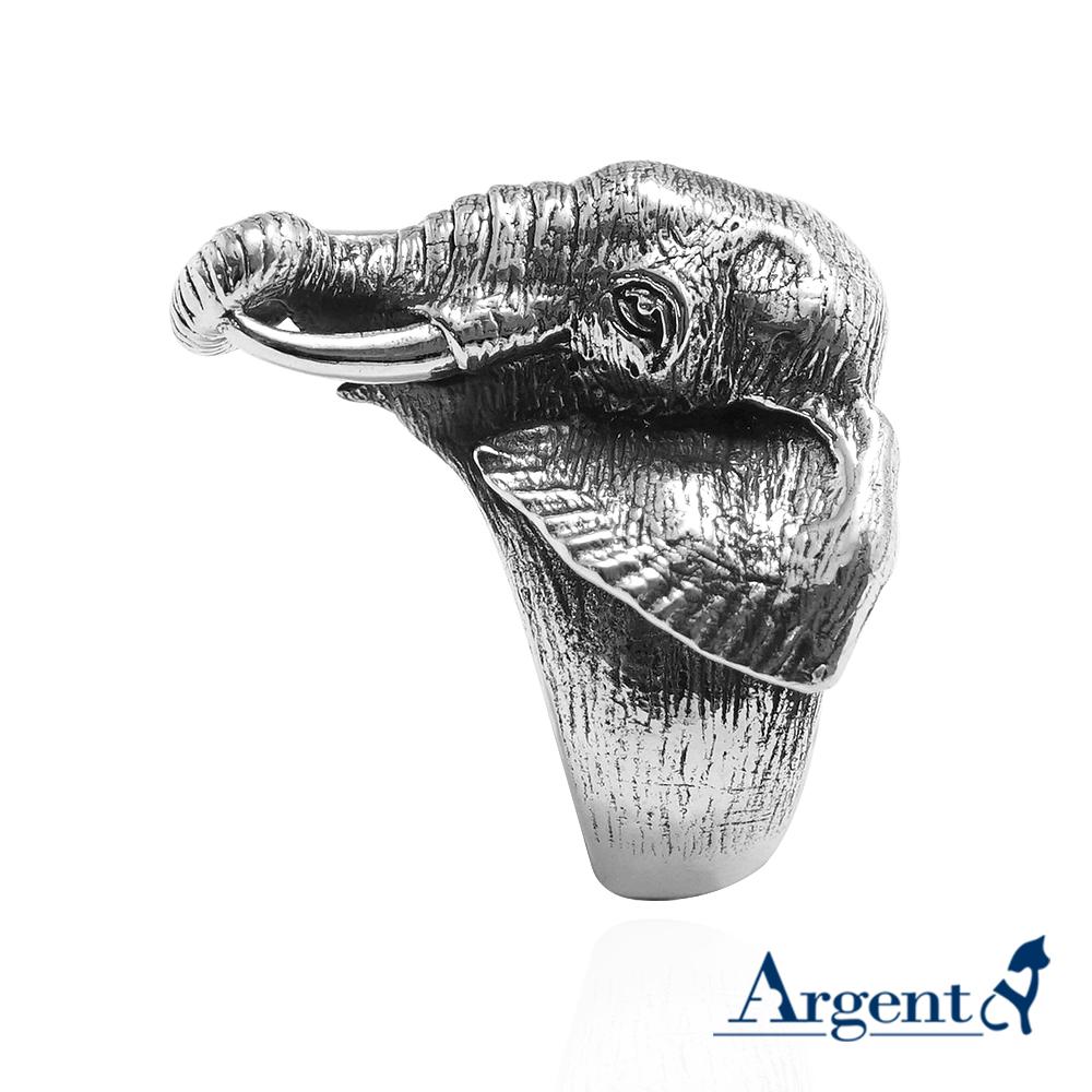大象動物造型雕刻純銀戒指|戒指推薦