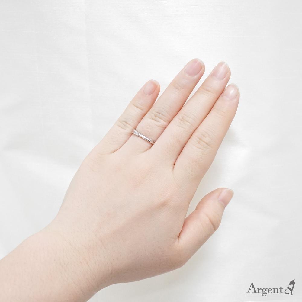 熱情擁抱(女戒)14K/18K 培育真鑽 戒指