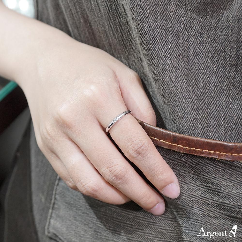 專情(女款)白k金真鑽14k戒指推薦|k金戒指