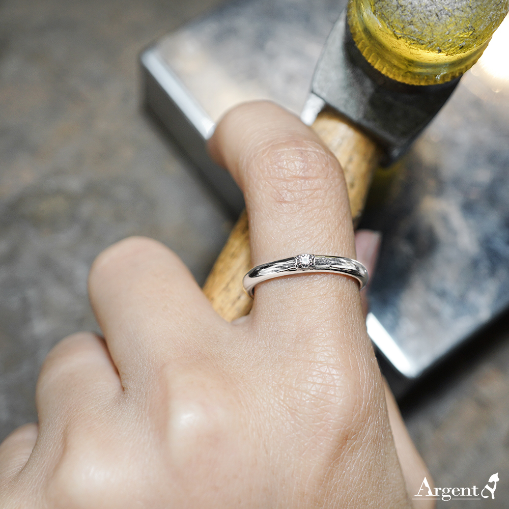 專情(男款)白k金真鑽14k戒指推薦|k金戒指
