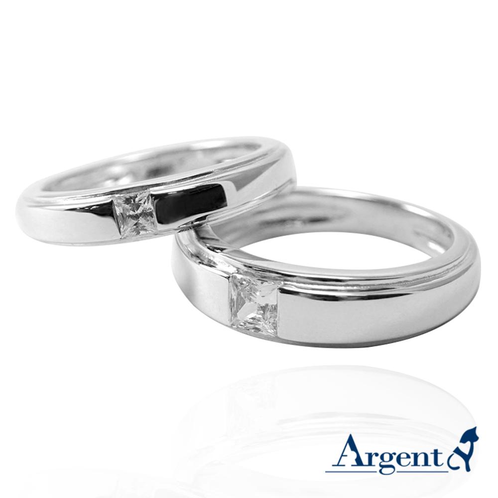 「摯情(寬+細)」鑽鑲嵌純銀戒指|戒指推薦