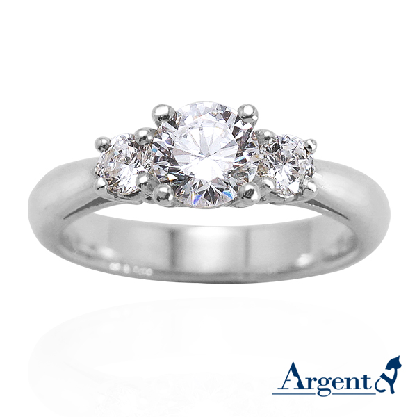 「閃耀」造型鑽鑲嵌純銀戒指|戒指推薦