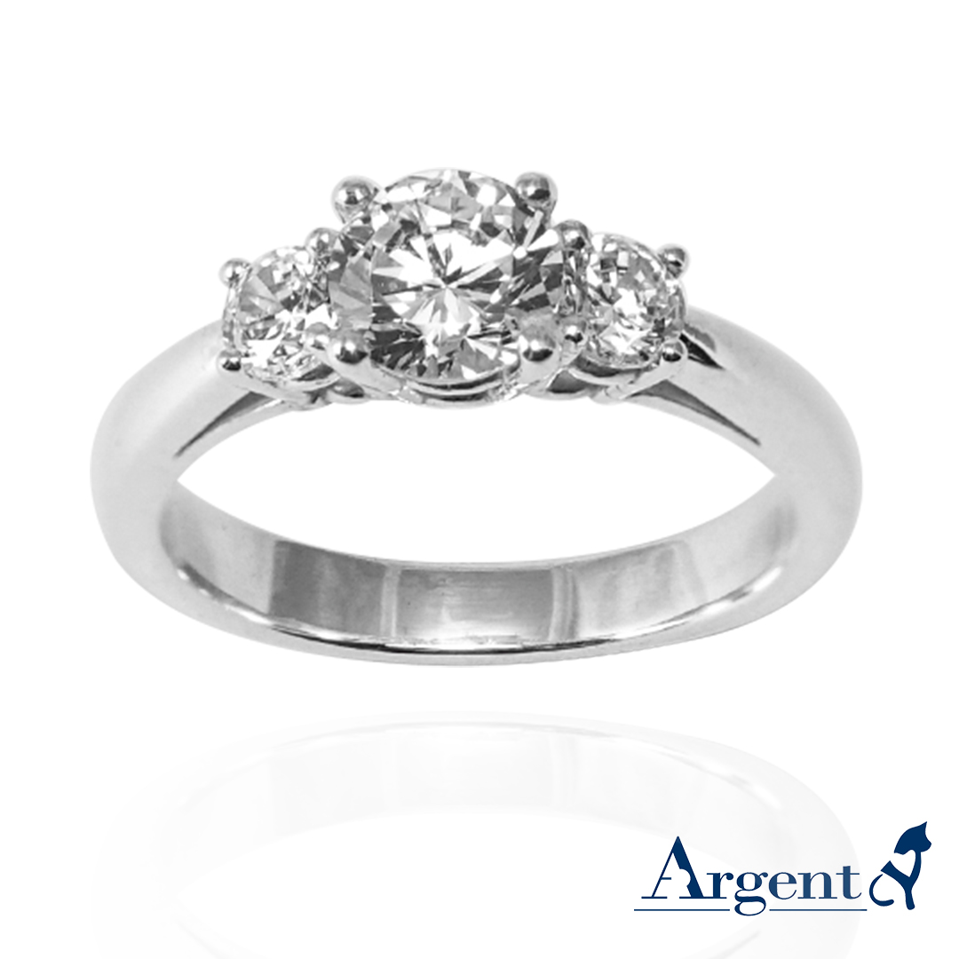 「閃耀(大鑽)」造型鑽鑲嵌純銀戒指|戒指推薦