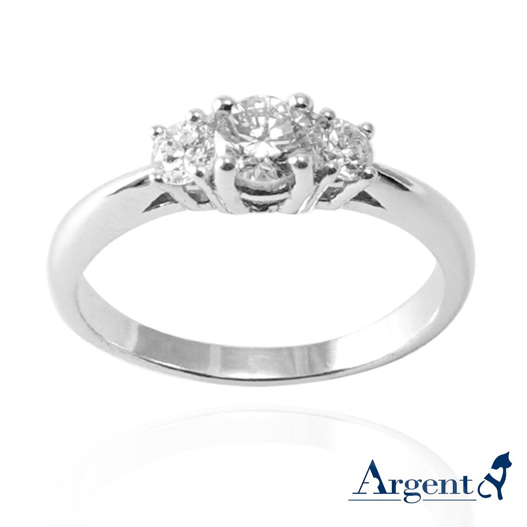 「閃耀」造型K金鑲嵌培育鑽石戒指|戒指推薦