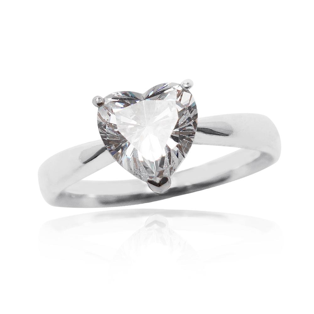 「璀璨的愛-白鑽」純銀戒指