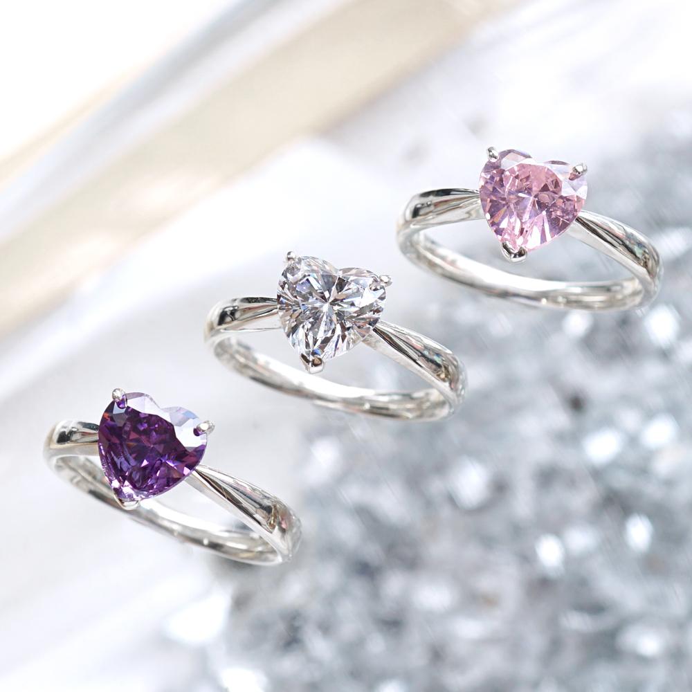 「璀璨的愛」純銀戒指