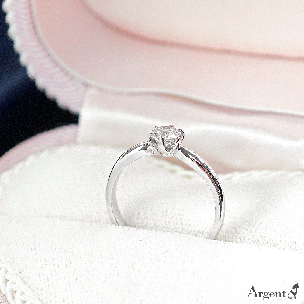 滿鑽英文密碼純銀戒指|客製化戒指