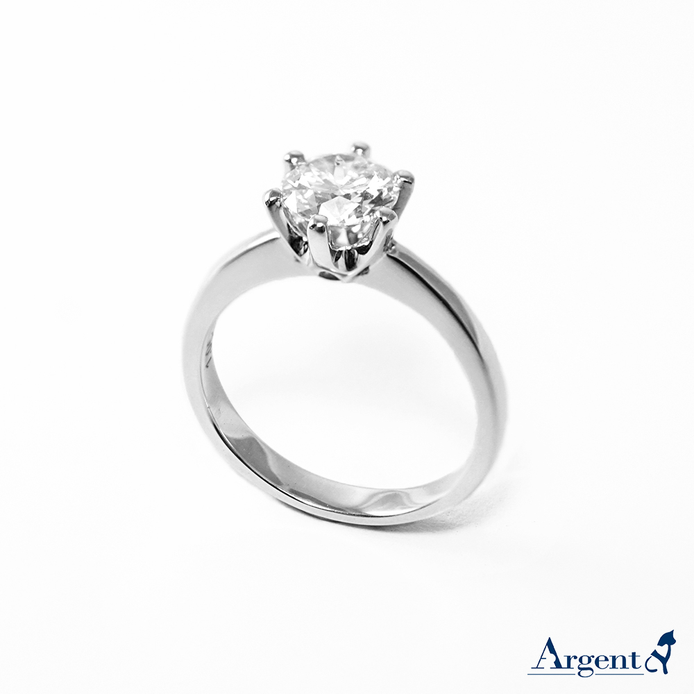 「單顆美鑽18k+1.05ct 六爪培育真鑽」18K 培育真鑽戒指