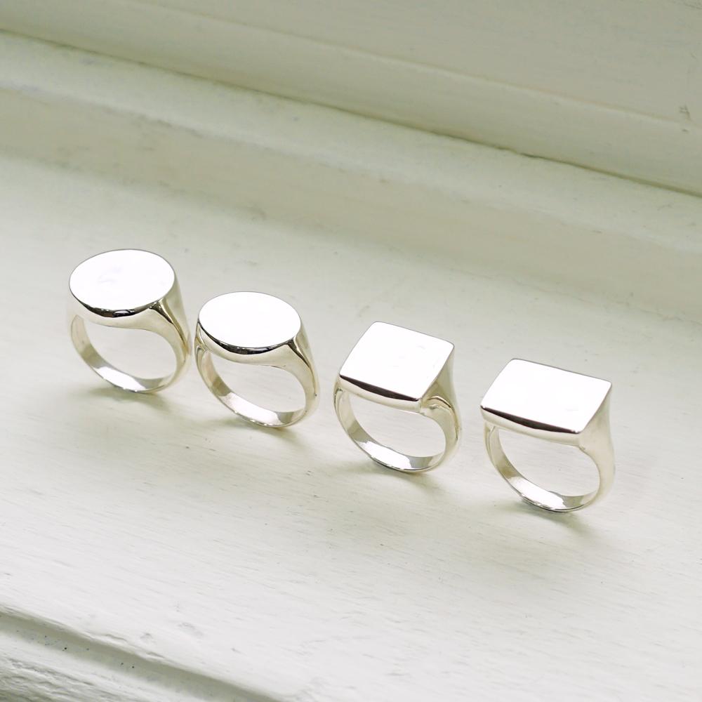 幾何造型戒(細版)(無刻字)純銀戒指