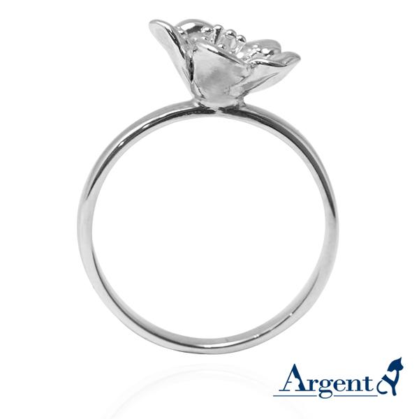 「梅花」立體純銀戒指銀飾