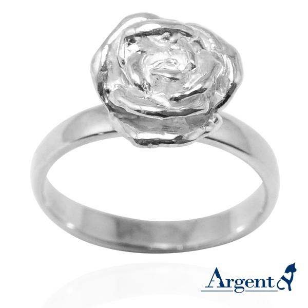 「玫瑰」立體純銀戒指銀飾