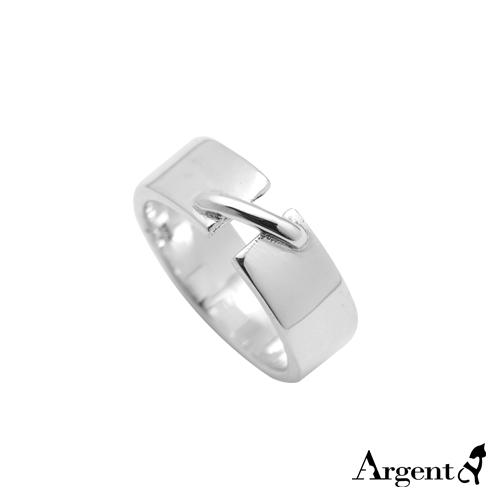 8mm「扣」造型寬版純銀戒指|戒指推薦