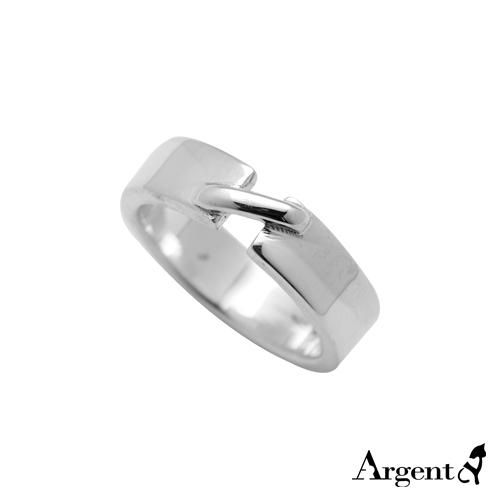 6mm「扣」造型細版純銀戒指|戒指推薦