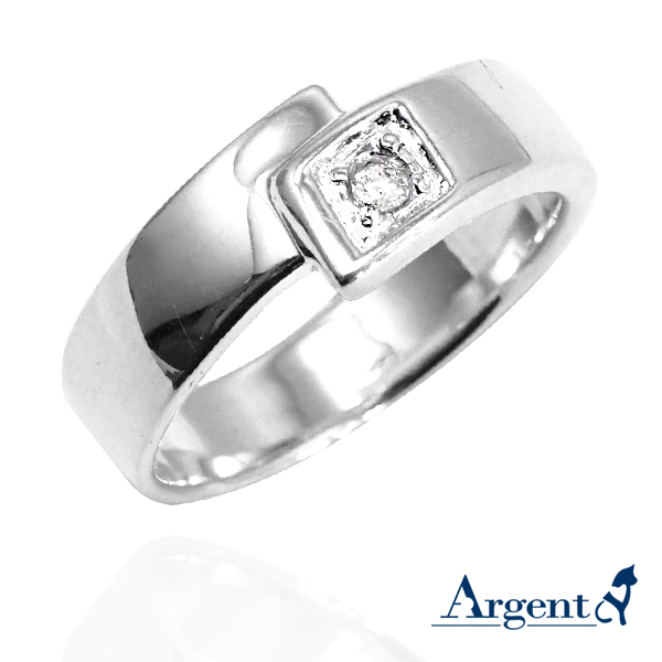 Promise diamond shape design sterling silver ring | ring recommended