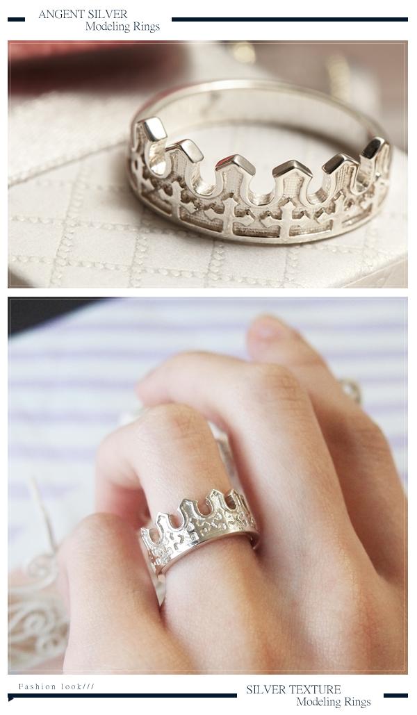 「王子」皇冠系列造型純銀戒指|戒指推薦