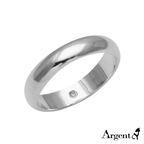 藏钻(4mm)白k金真钻8k戒指推荐|k金戒指