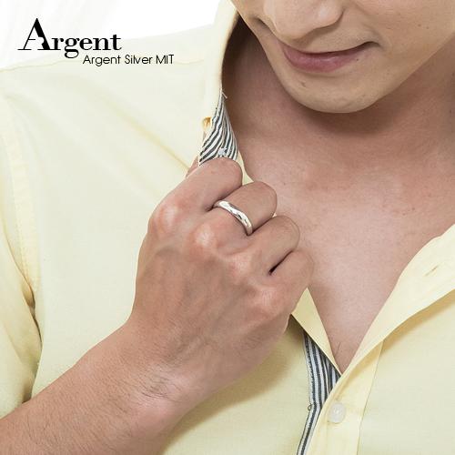藏鑽(4mm)白k金真鑽14k戒指推薦|k金戒指