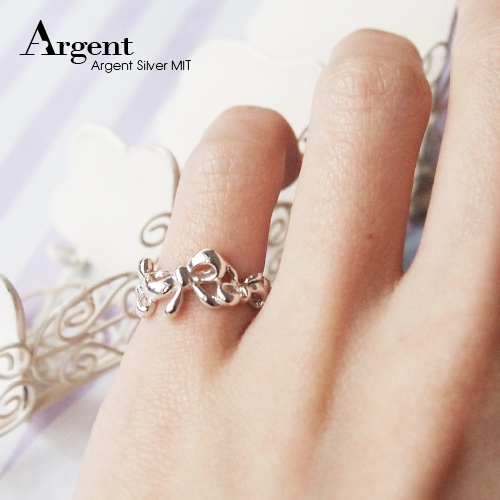 「花蝶」雕刻蝴蝶結純銀戒指|戒指推薦